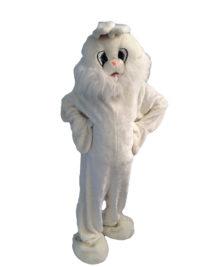 White Bunny Big Face